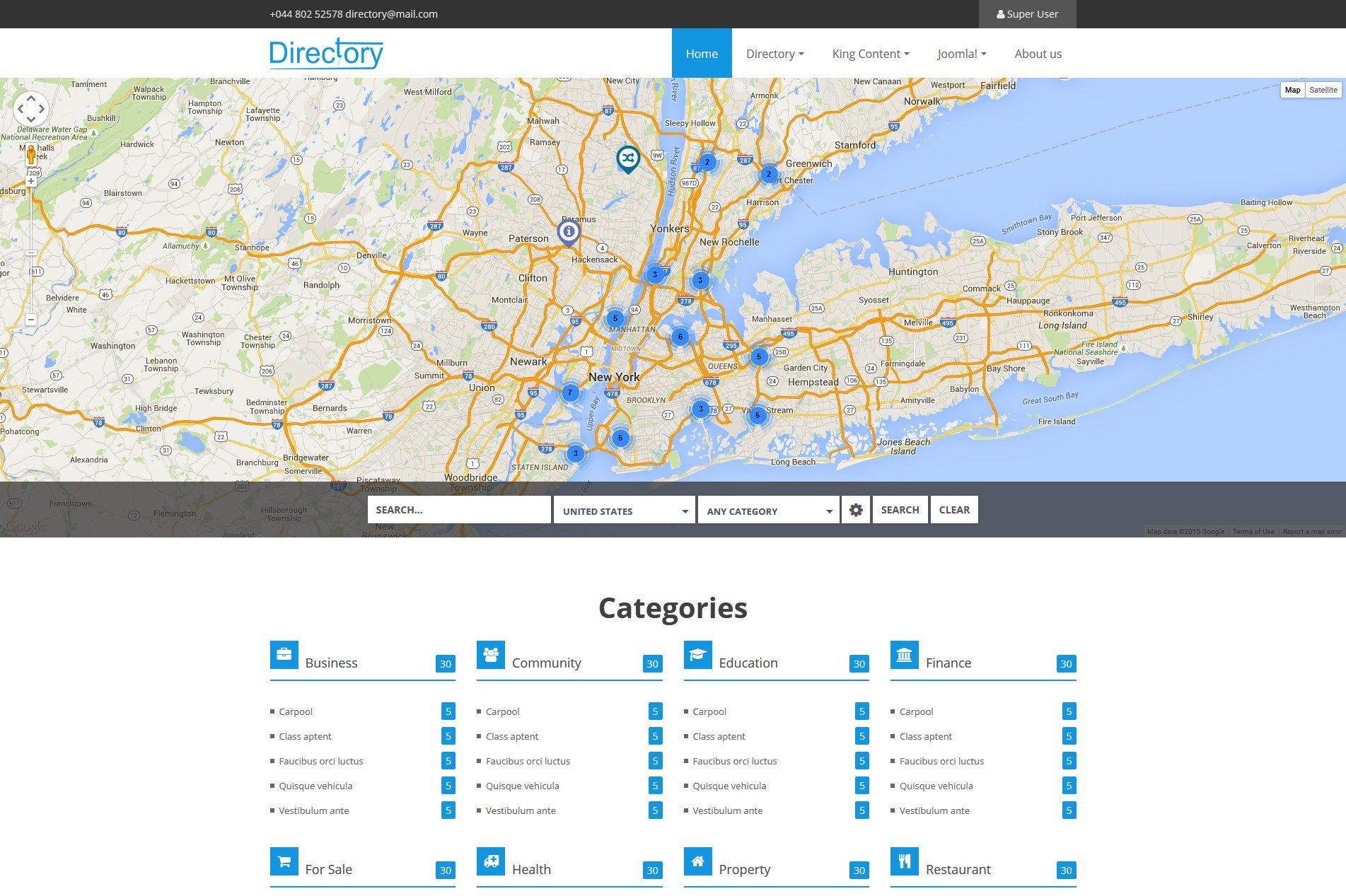 Directory listing joomla template joomla themes creative market accmission Choice Image