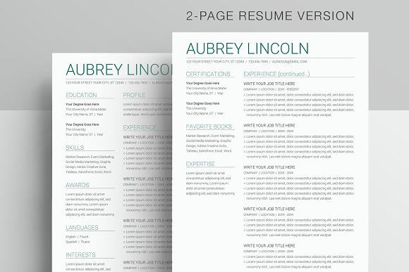 Google Docs Resume Template in Resume Templates - product preview 1