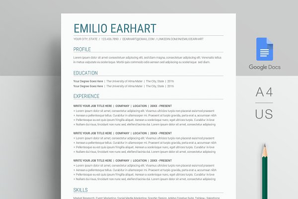 Google Docs Resume Template Creative Resume Templates Creative