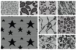 13 Lacy vector seamless patterns