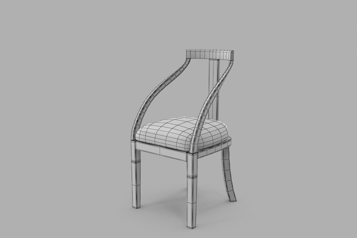 Simple Minimalist Wooden Chair