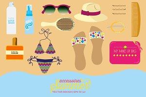 Vector Summer Accessories