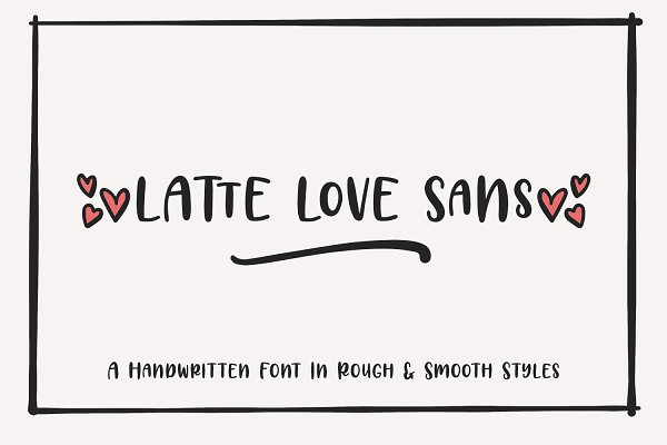 Best Latte Love Sans Vector