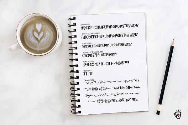 Best Latte Love Sans Vector