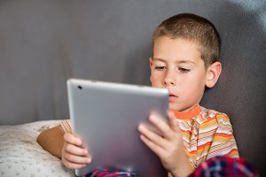 Boy with tablet