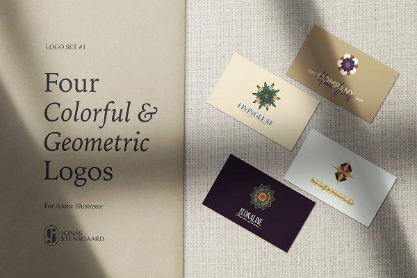 Four Colorful Geometric Logos