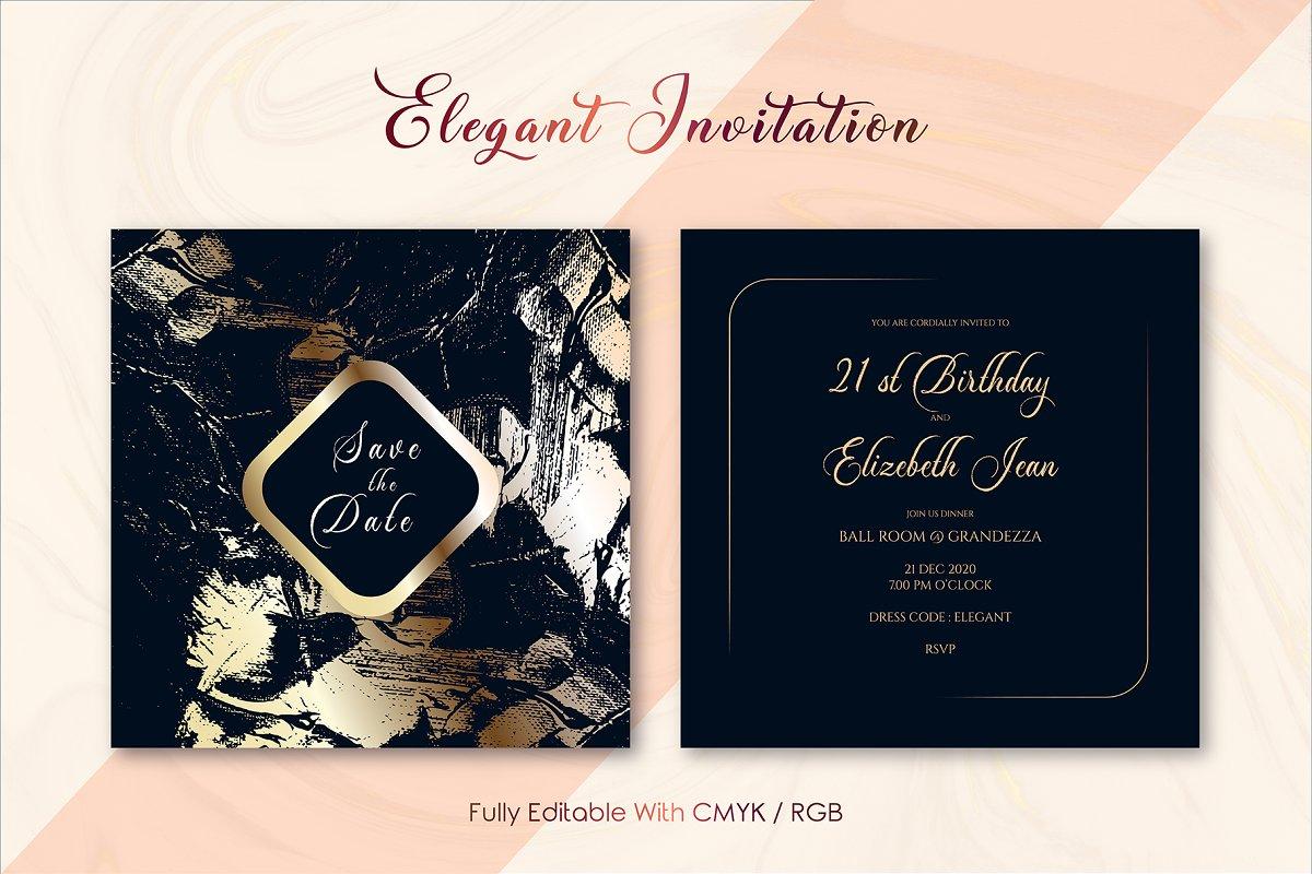 Elegant Invitation Template Ver : M ~ Invitation Templates ...