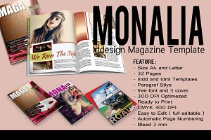Monalia Indesign Magazine Template