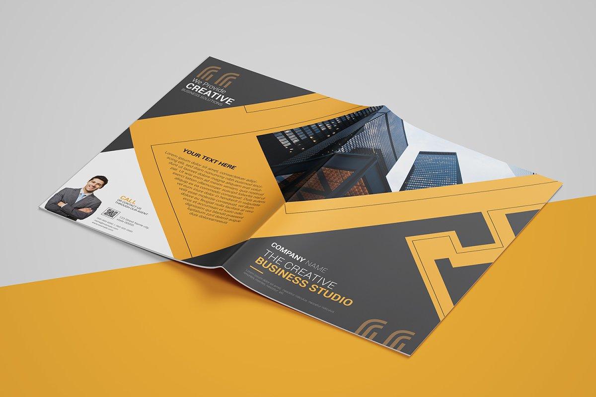 Abstract Bi-fold Brochure