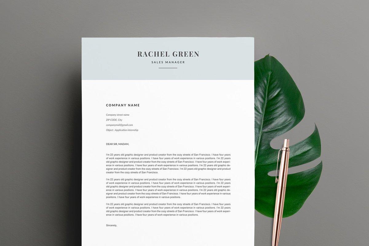 """Modern Resume Template """"RACHEL"""" A4"""