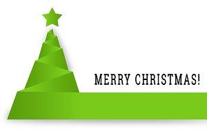 Green Christmas Tree Abstract