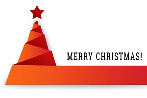 Merry Christmas in Red Ribbon