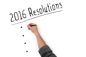 2016 Resolutions on White Board