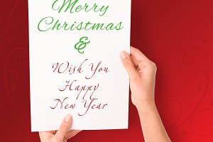 Merry Christmas on a Paper