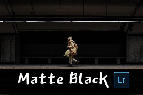 Matte Black Lightroom Presets