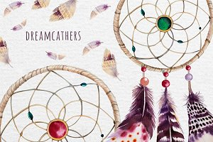 Boho style Dreamcatchers & teepee