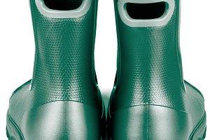 Dark Green Rubber Boots