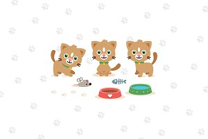 Kitty Clipart/ Cat Clipart Mascot