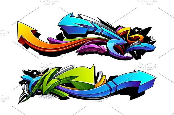 Graffiti Vector Arrows in Illustrations