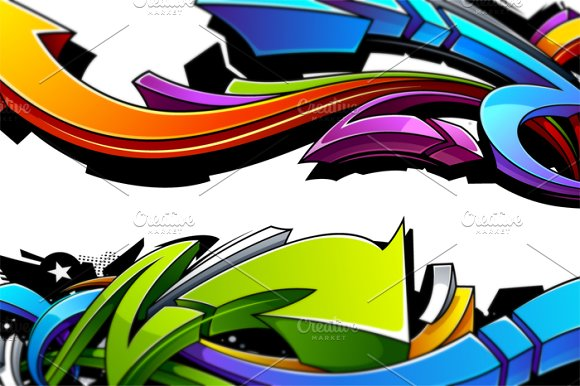 Graffiti Vector Arrows in Illustrations - product preview 1