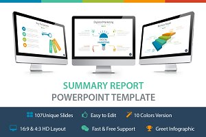 Summary Report Powerpoint Template