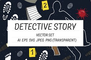 Detective story - vector set