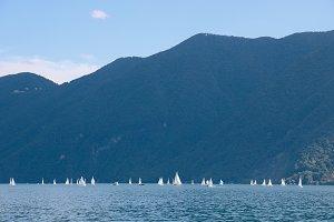 blue lake and mountain no.1
