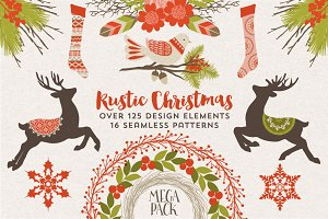 Rustic Christmas Graphics & Patterns