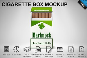 Cigarette Box Mockup 03