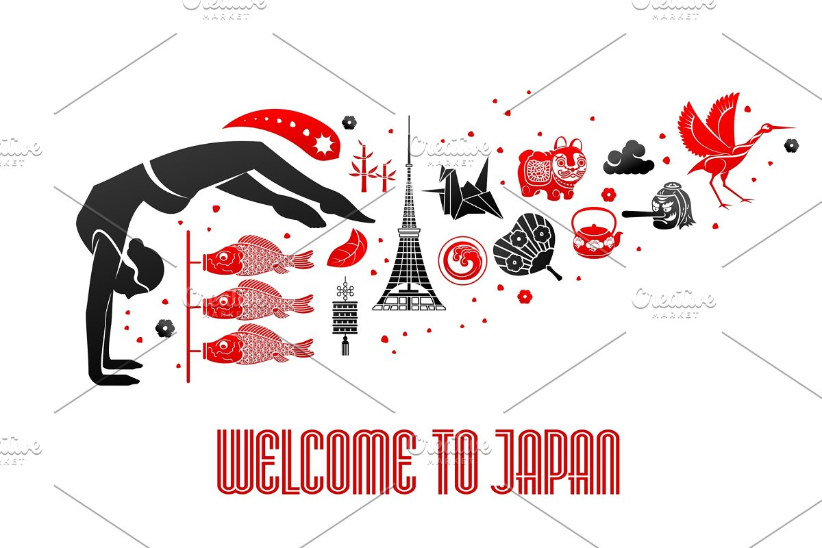 Vector illustration Japanese symbol
