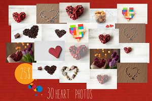 Valentines heart pack 25$