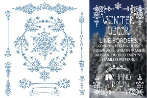 Winter borders,wreath frames,decor