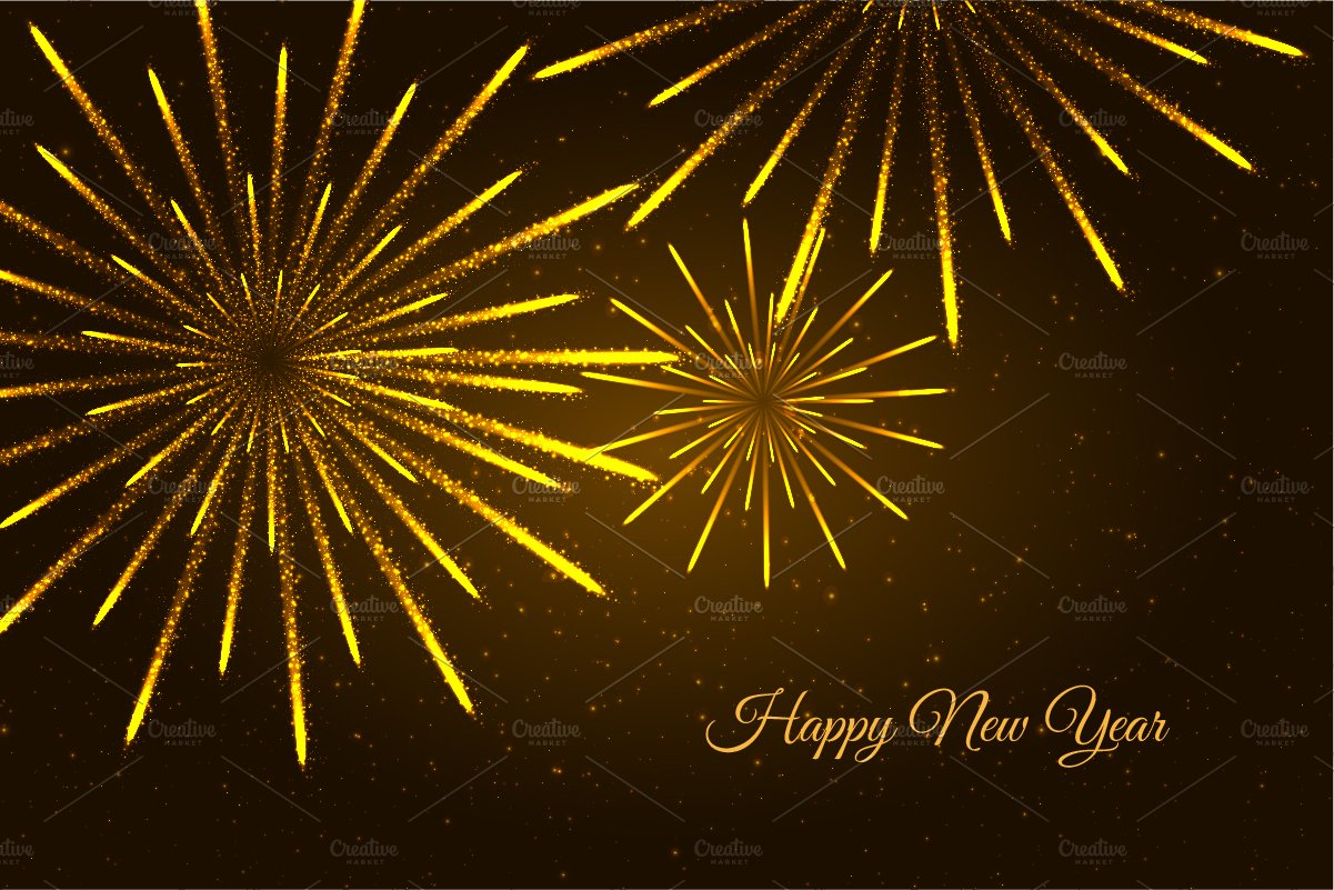 new year fireworks background illustrations creative market