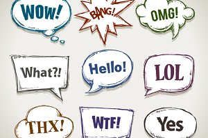 Handcrafted Speech Bubbles