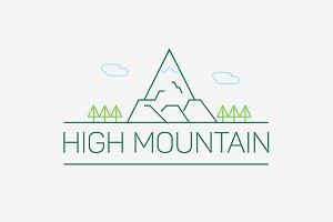 Vector high mountain logo