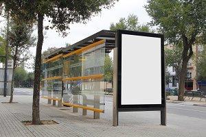 Bus stop adverstisement