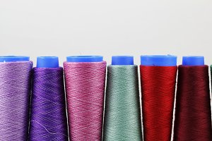 Colorful sewing coils