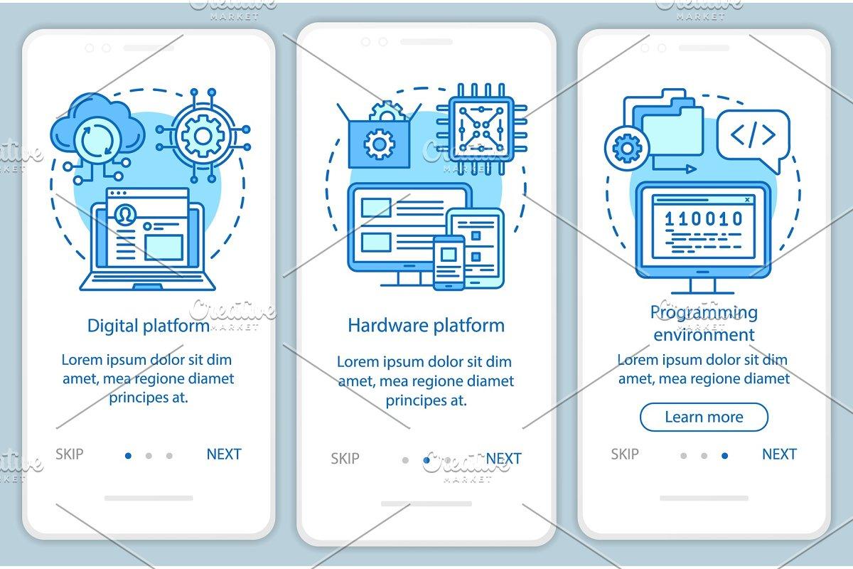 Hardware platform mobile app pages