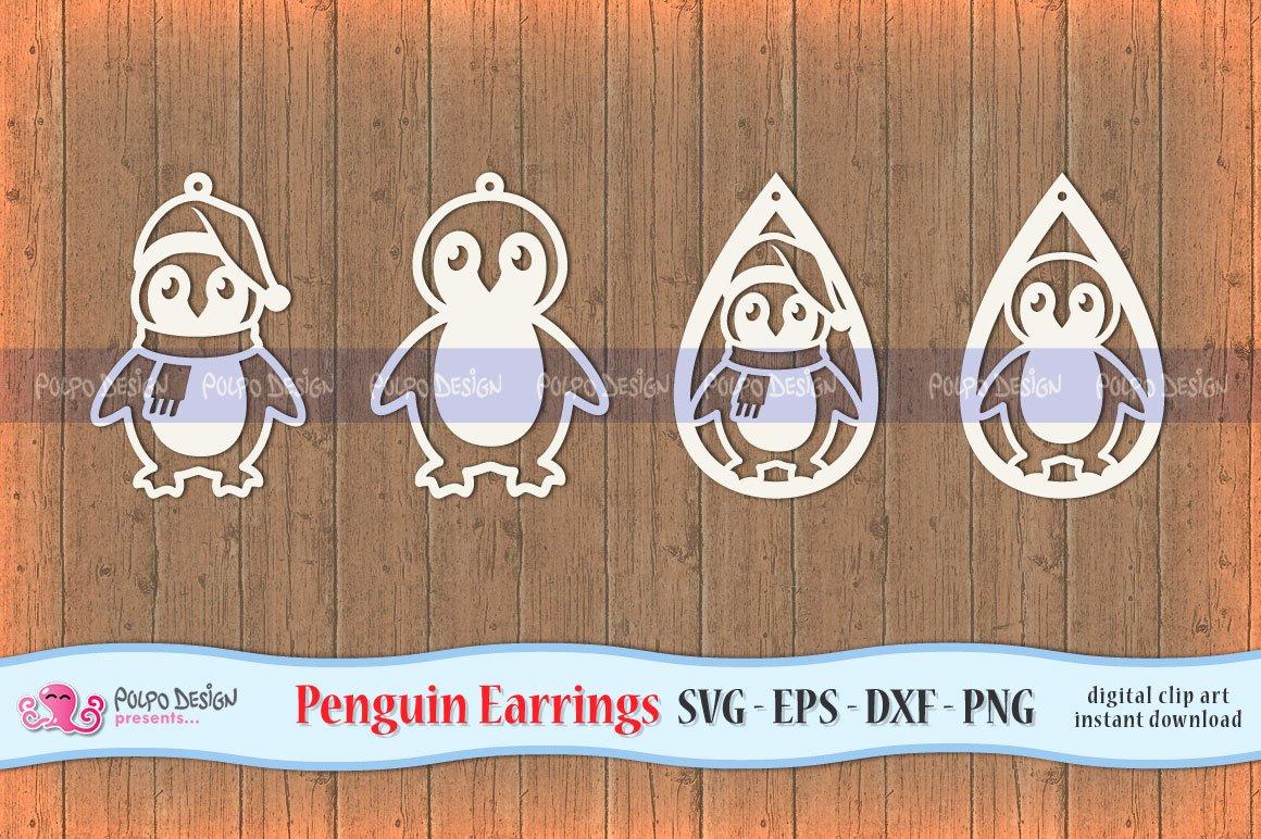 Penguin Earring Svg Pre Designed Photoshop Graphics Creative Market