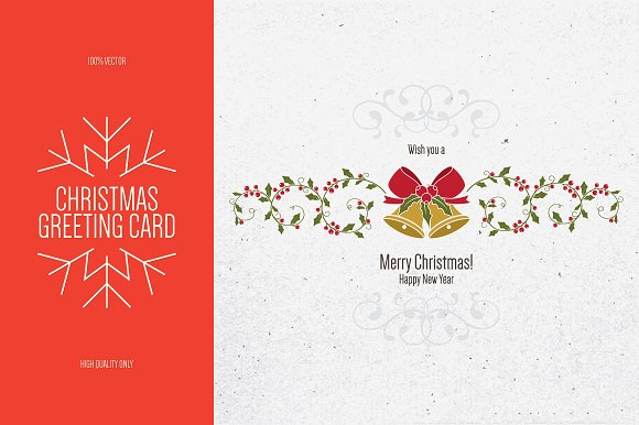 christmas and new year greeting card cards