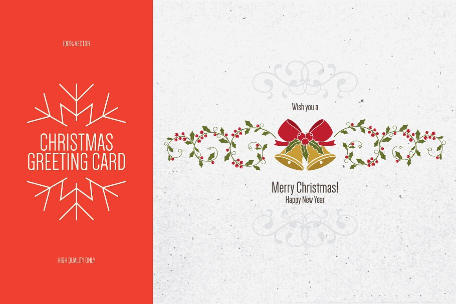 New Year Greeting Card Template | Christmas And New Year Greeting Card Card Templates Creative Market