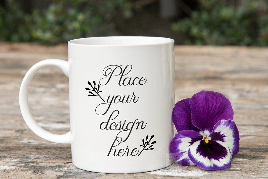 11oz PSD coffee mug mockup template
