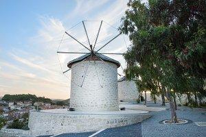 Traditional windmills in Alacati