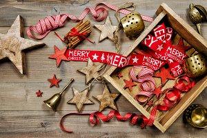 Christmas decoration retro style