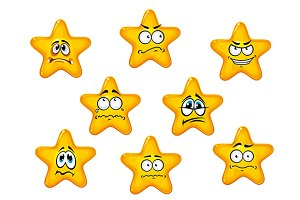 Yellow stars with negative emotions