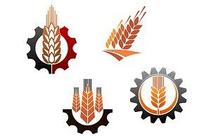 Agriculture symbols set