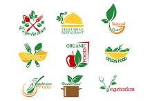 Vegetarian food symbols