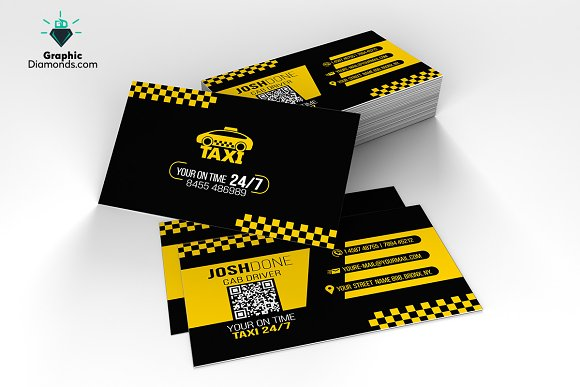 taxi business card template business cards - Taxi Business Cards