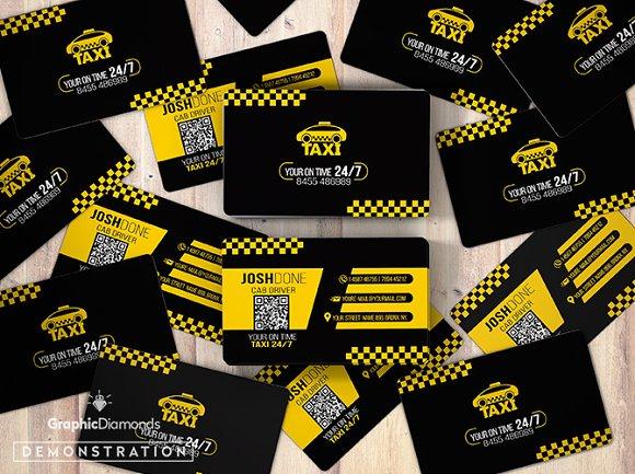 Taxi Business Card Template Business Card Templates Creative Market