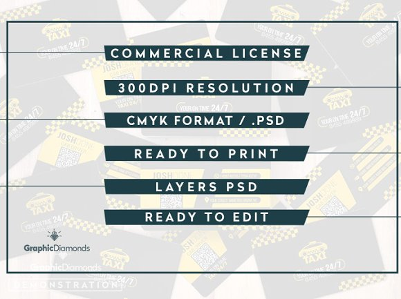 Taxi Business Card Template ~ Business Card Templates